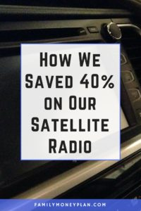How We Saved on Our Satellite Radio