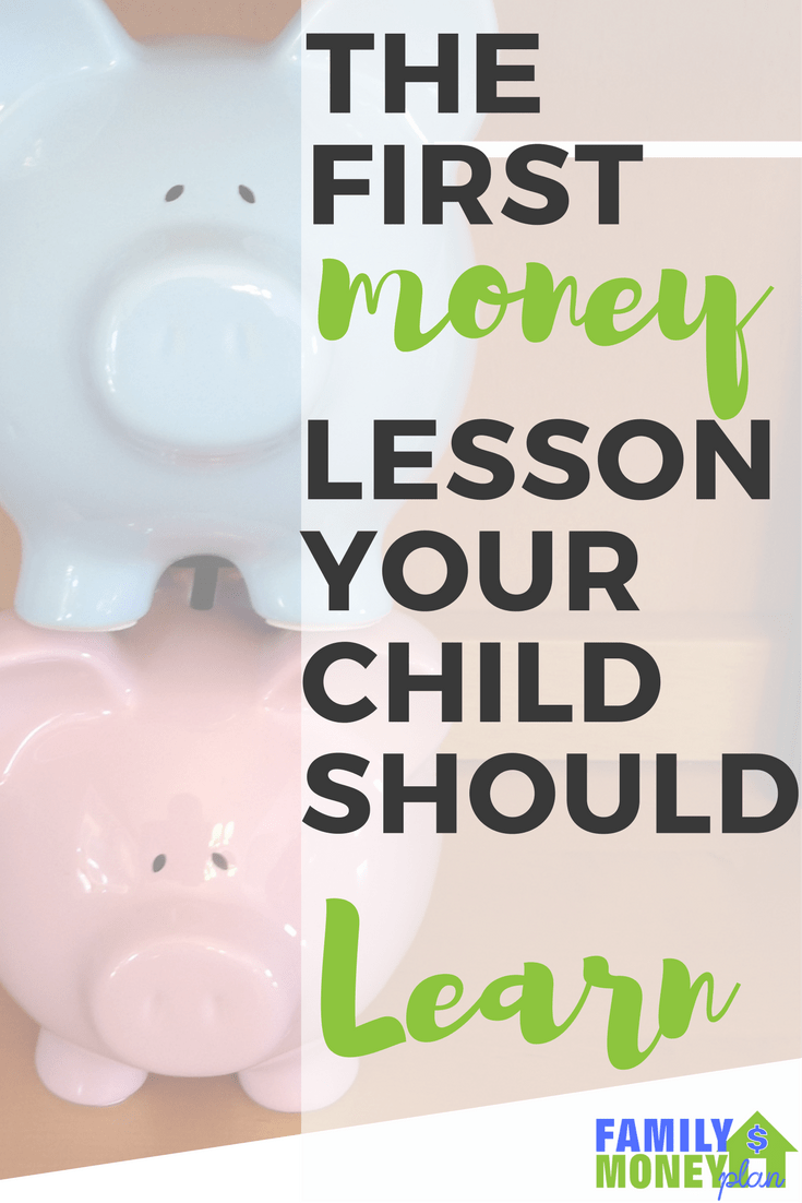 Do you wonder how to get your kids started with money? This is a great step to teach your kids when they are young. That way they get set up for good money habits. The first money lesson a child should learn | Allowance | Saving Money | Kids and Money |
