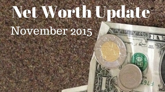 Net Worth Update: November 2015