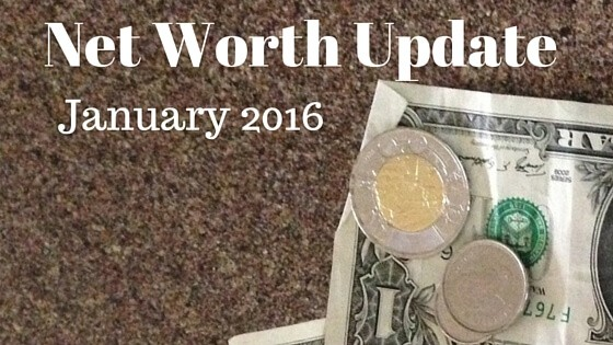 Net Worth Update for January 2016