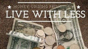 MONEY GUIDING PRINCIPLE #1
