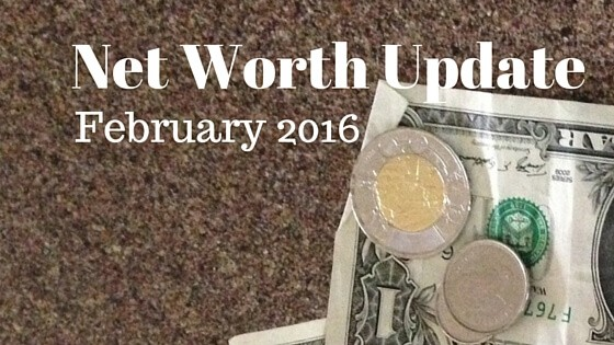 Net Worth Update for February 2016