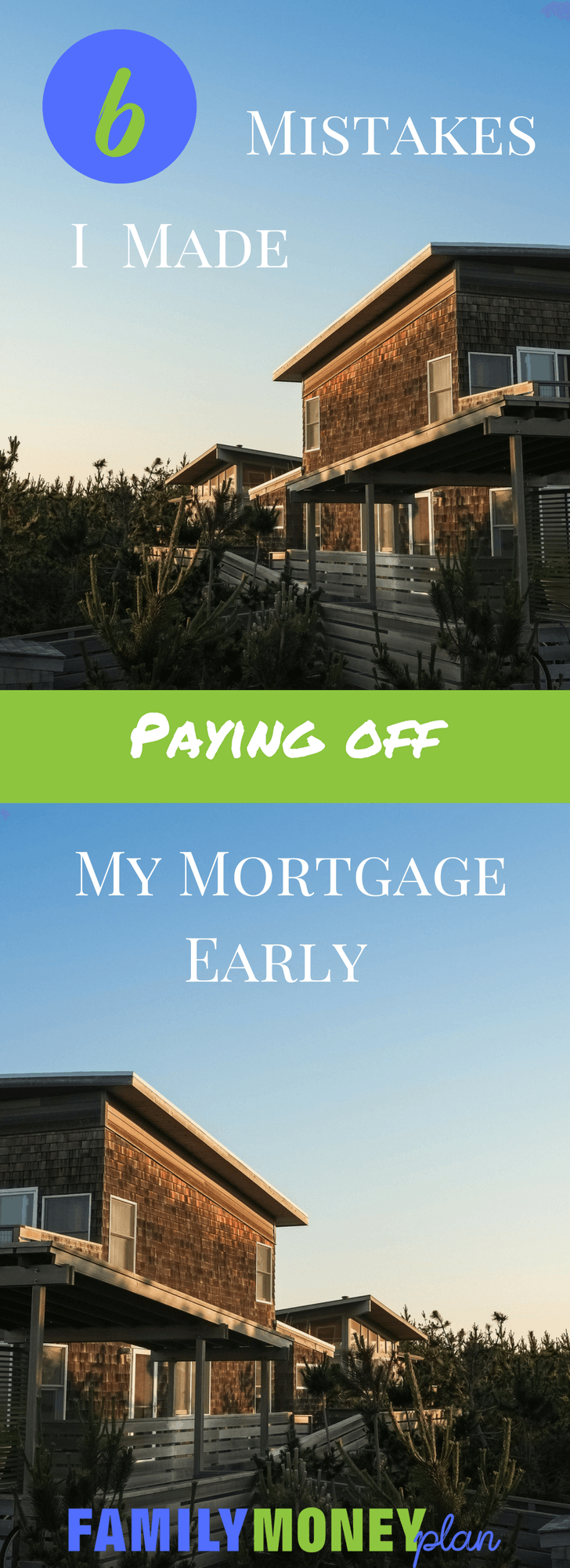 Wondering if paying off your mortgage is the right thing to do? See these mistakes we made paying off our house. |Mortgage and Debt Free |