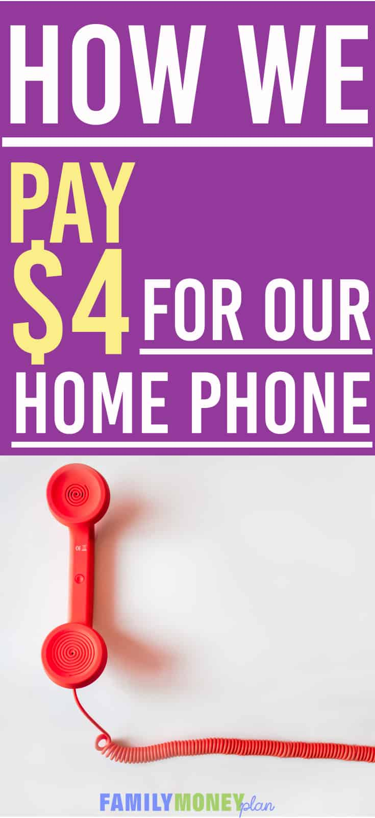 How We Lowered Our Home Phone Costs to $4 a Month. Want to save money on your home phone? Here is how we cut our phone costs by 80%Save money on your home phone | Save on Long Distance Calling | Free home phone line | Saving Money |