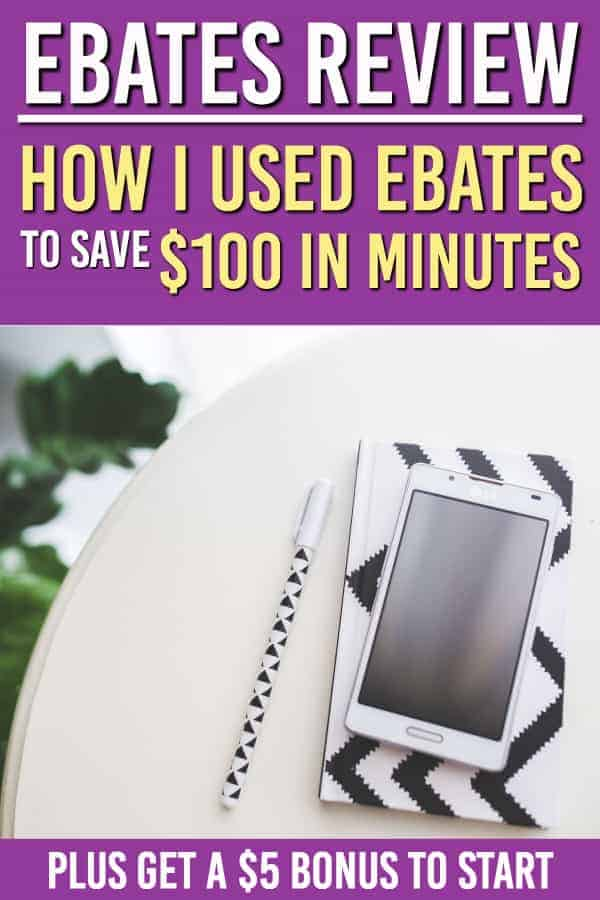 Looking to get more cash back ? Check out our Ebates review and how we used it to save over $100 in a few minutes. #frugal #frugaltips #savingmoney #personalfinance #traveltips