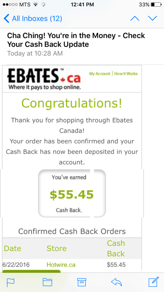 Looking to get more cash back ? Check out our Ebates review and how we used it to save over $100 in a few minutes. #frugal #frugaltips