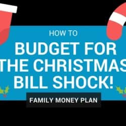 How To Budget for the Christmas Bill Shock