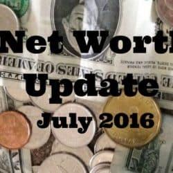 Net Worth Update July 2016