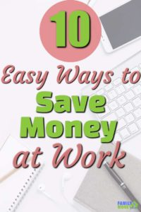 How much is it costing you to go to work every day? You would be surprised. Here are 10 ways you can save money at work. | Save money at work | Save Money | Ideas for saving money at work |