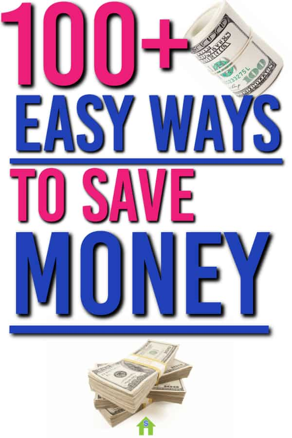Need some quick ways to save money? Here are over 100 ideas for places you can live better, save money and keep more of your hard earned money | Saving Money Tips | Frugal Living |