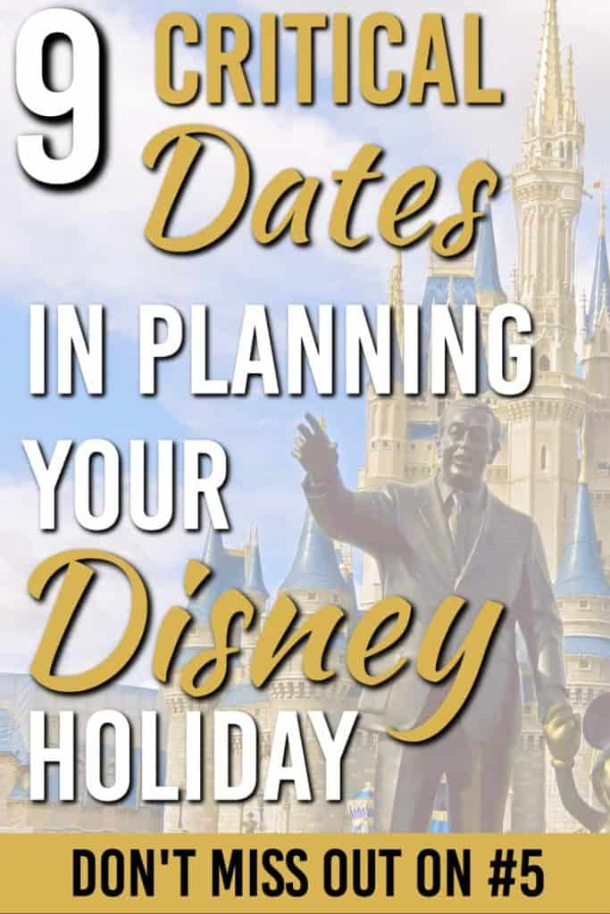 There are 9 main dates you must know for your Disney holiday. Ignore them at your own risk. But plan around them and you can have the trip of a lifetime. |DisneyWorld | Family Trip | Important Disney Dates |