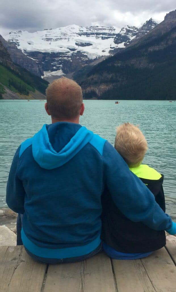Father and Son Lake Louise