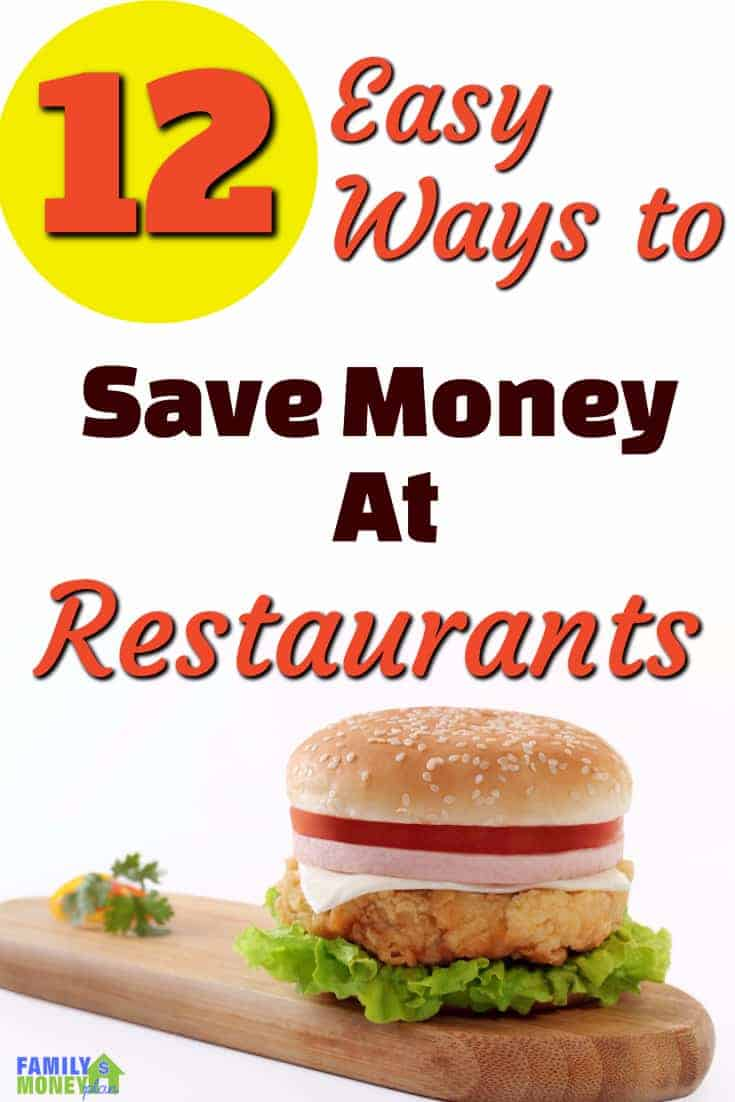 Looking for some easy ways to save money at restaurants? HEre's 12 things you can do today | Save Money at Restaurants | Save money eating out |