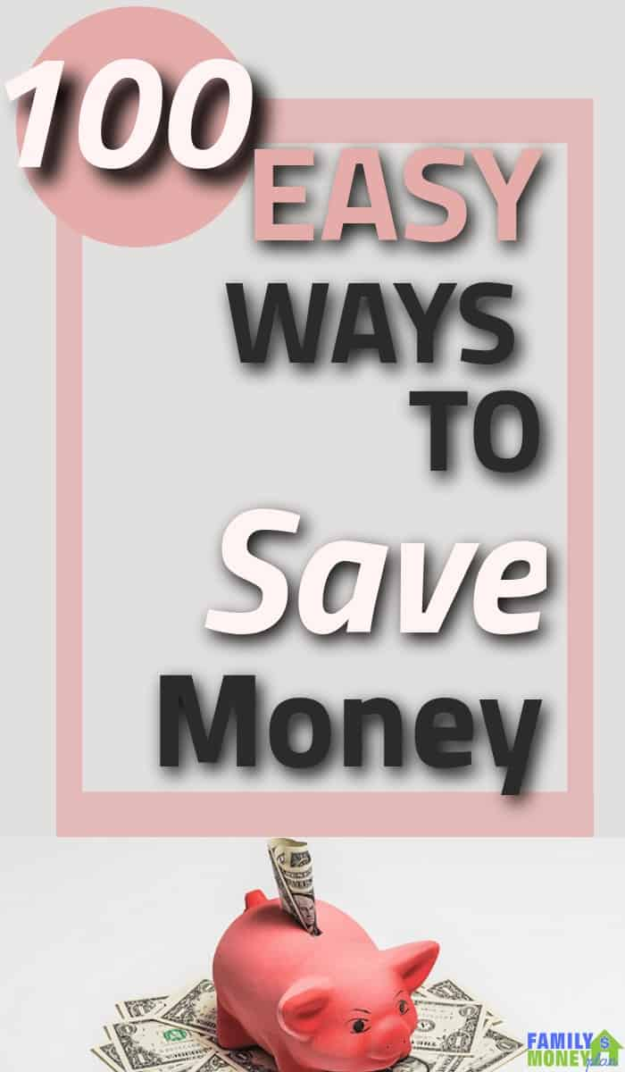 Need to put some extra money in your pockets? Here are 100 ways you can save extra money in your life right now. | 100 Ways to save money | Save extra money | Save Money |