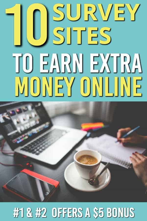10 sites that will pay money for surveys online | Make money online | Earn money online |Make money with surveys | Make money from surveys | Work at Home | Side hustle | #earnmoney #makemoneyonline #makemoney #onlineincome #surveys #sidehustle