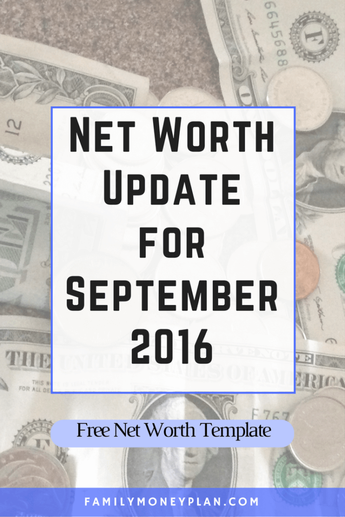Net Worth Update for September 2016