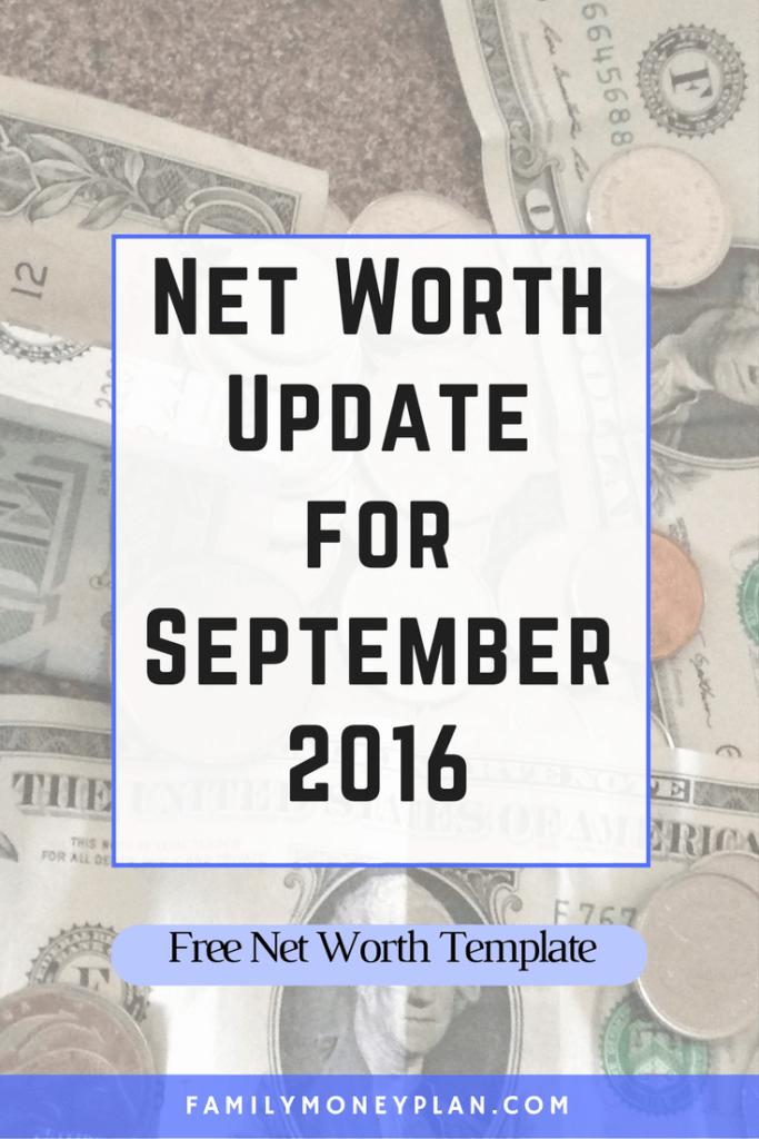 Net Worth Update for September 2016