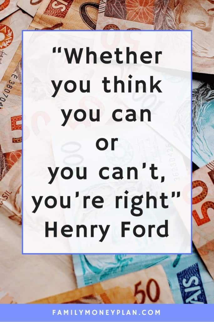 Whether You Think You Can or You Can't You're Right.