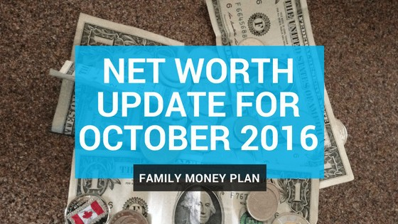 Net Worth Update for October 2016