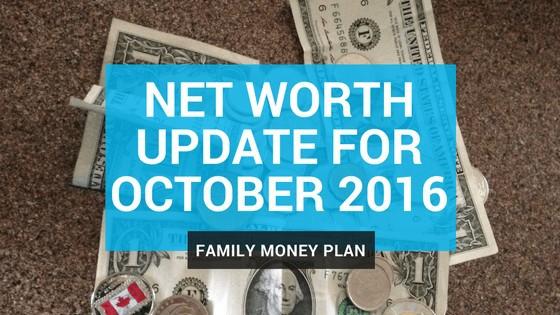 Net Worth Update for October 2016