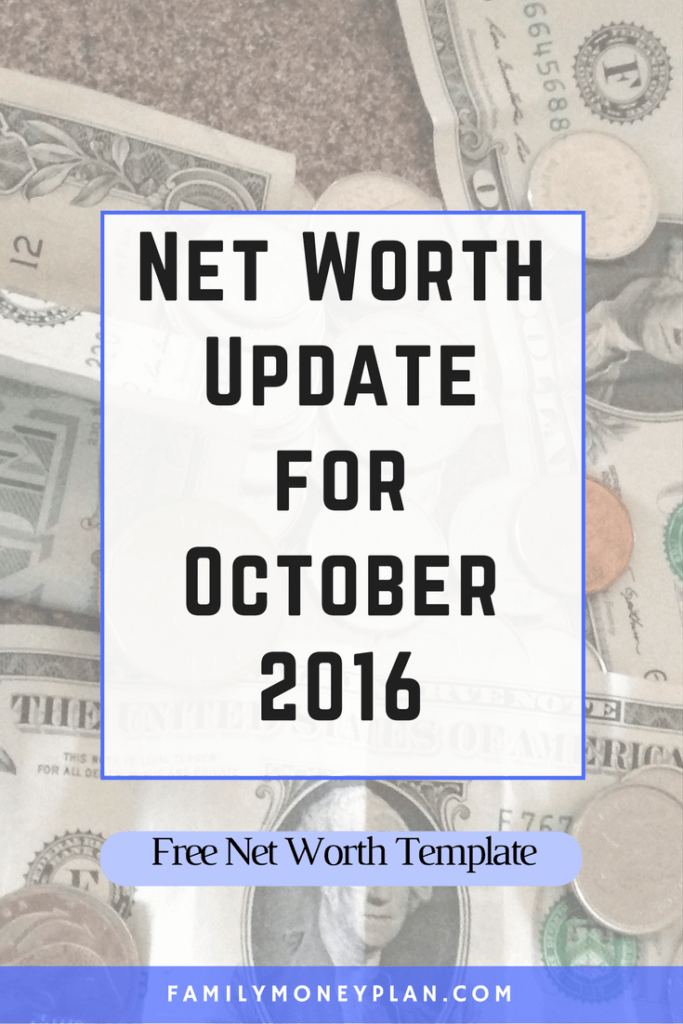 Net Worth Update for October 2016. Check out how we managed to pay off our debt once and for all!