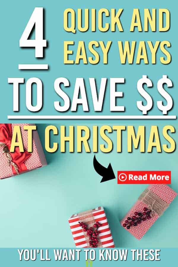 4 Quick Ideas To Save On Christmas Spending. Use these 4 tips to boost your savings this Christmas #christmas #savings #frugalliving #savingmoney #savingideas