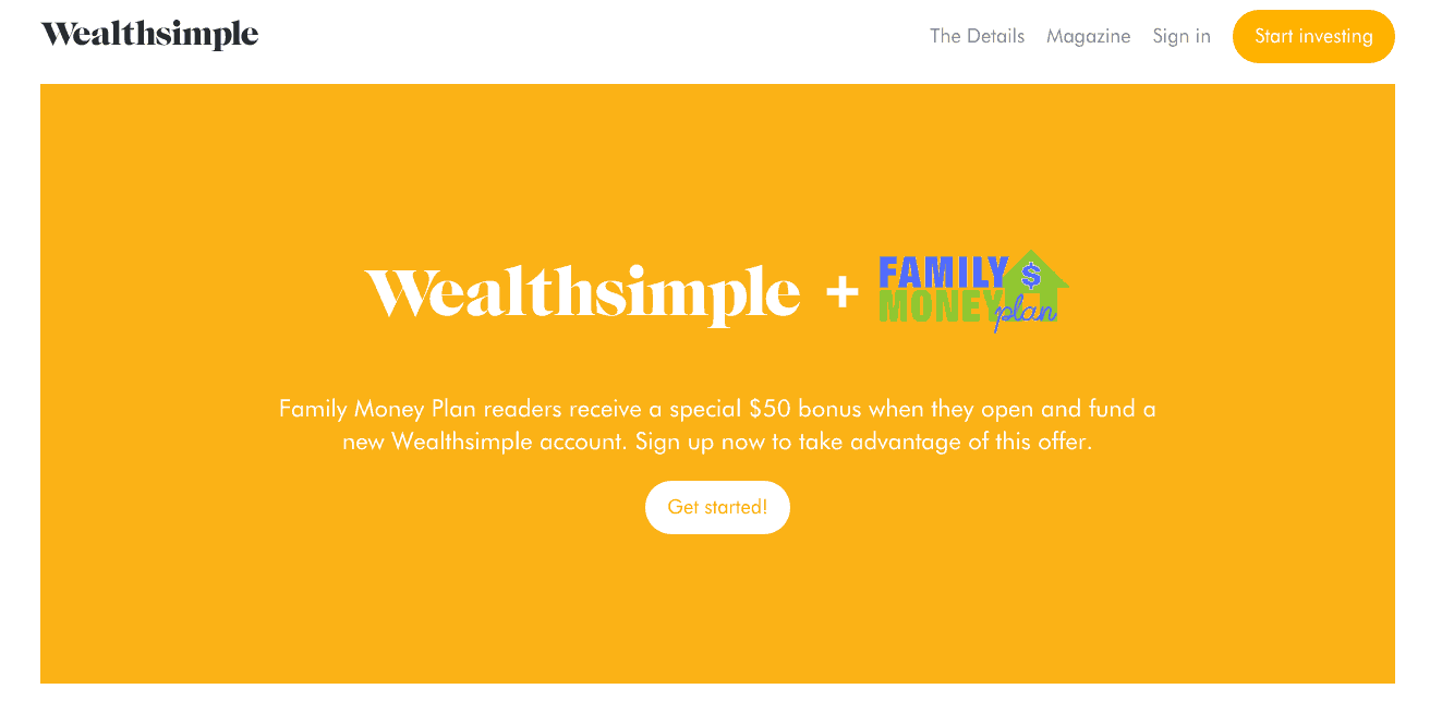 How to Open An Account With Wealthsimple and Get a $50 Sign