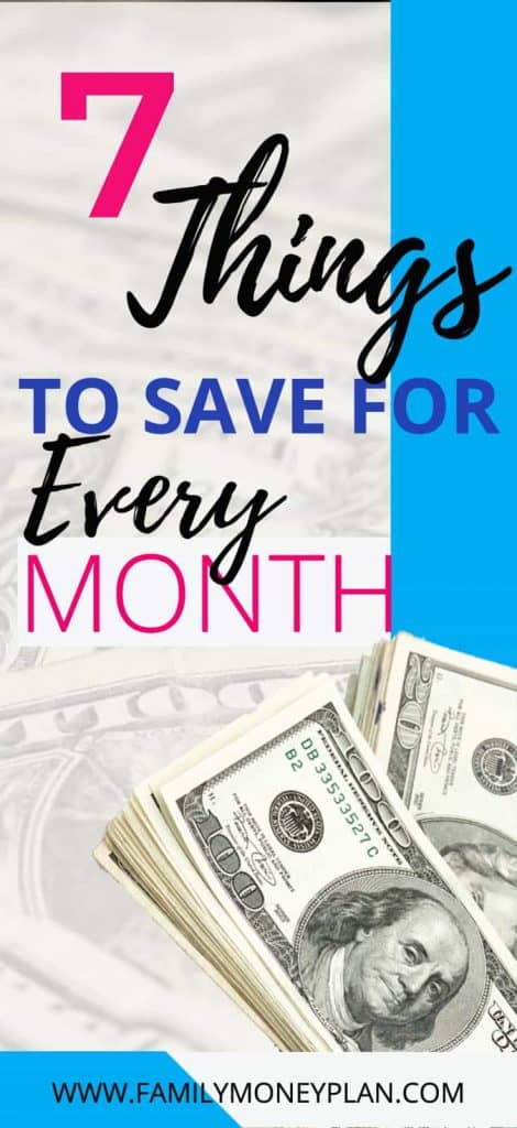 Ever wonder what you be saving for ? Here 7 things to save for every month | Saving money | Spending less | emergency account |