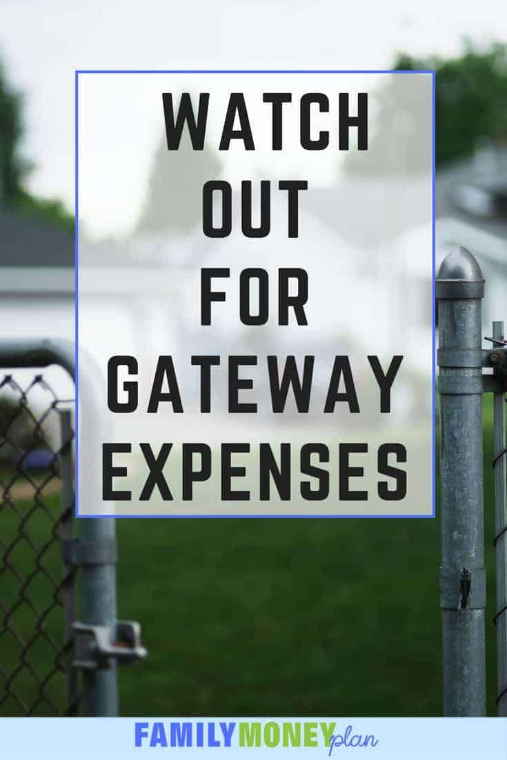 Ever bought something (I'm looking at you renovations!) and had it lead to more and more expenses you have been a victim of gateway expenses. Here's how to stop them |Spending Money | Saving Money |