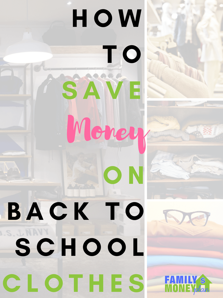 Looking for ways to cut your back to school clothes budget? Here's some great ways to save money on back to school clothes | Saving money | Clothes | Kids |