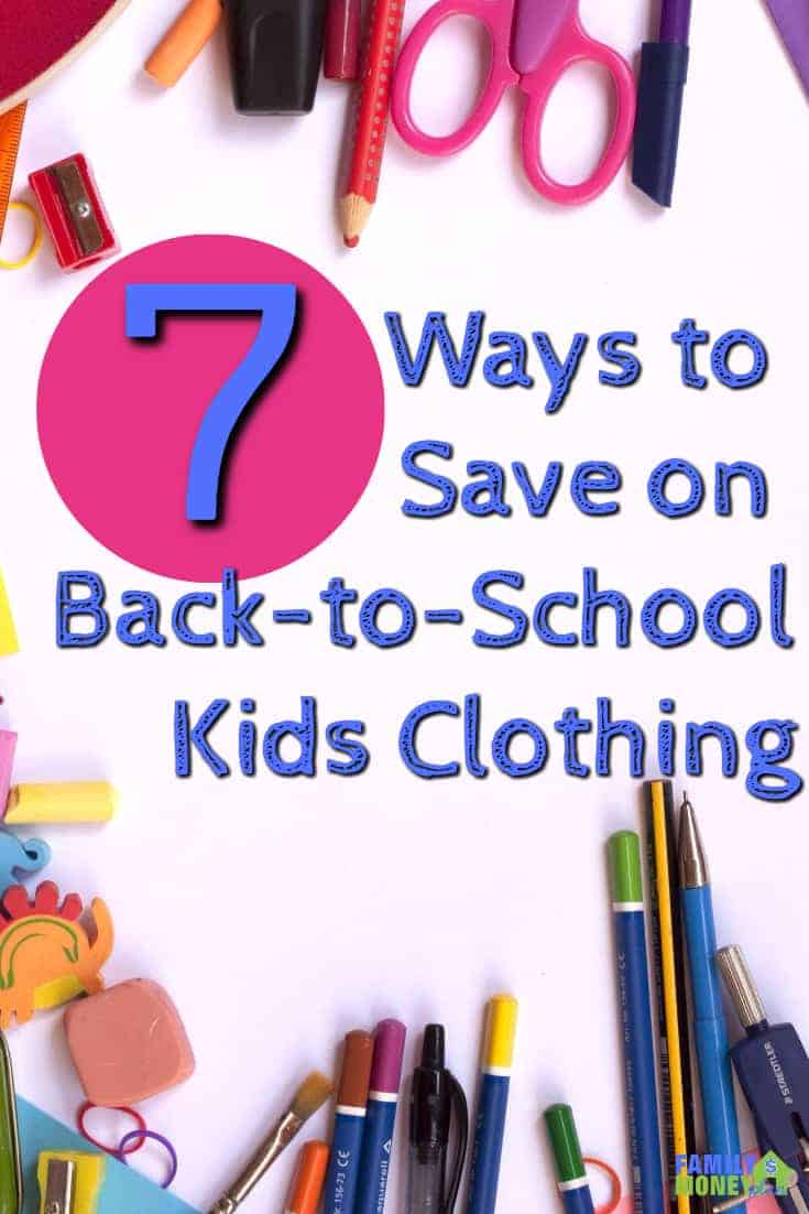 Looking for ways to cut your back to school clothes budget? Here's some great ways to save money on back to school clothes   Saving money   Clothes   Kids  