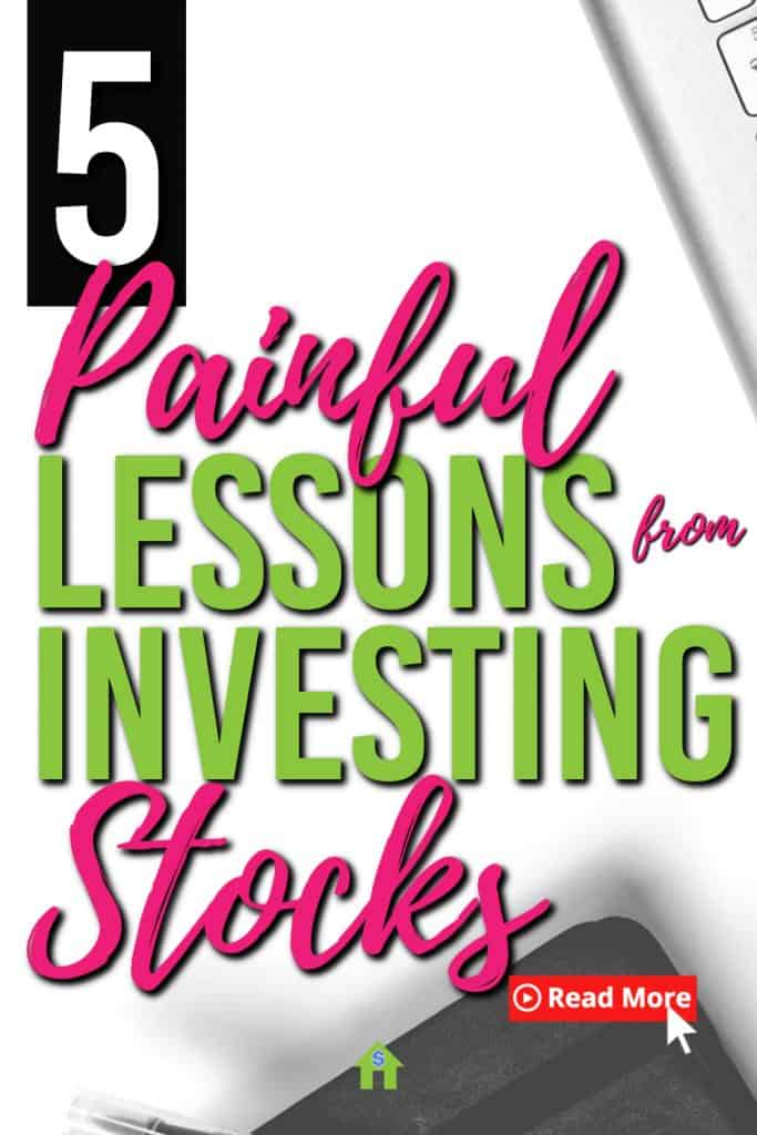 If you invest in stocks, you will learn a  lot of lessons. Especially when you lose money. Here are 5 lessons I've learned from a losing stock. |Investing | Investing Lessons | Stock investing |#investing #stocks #passiveincome