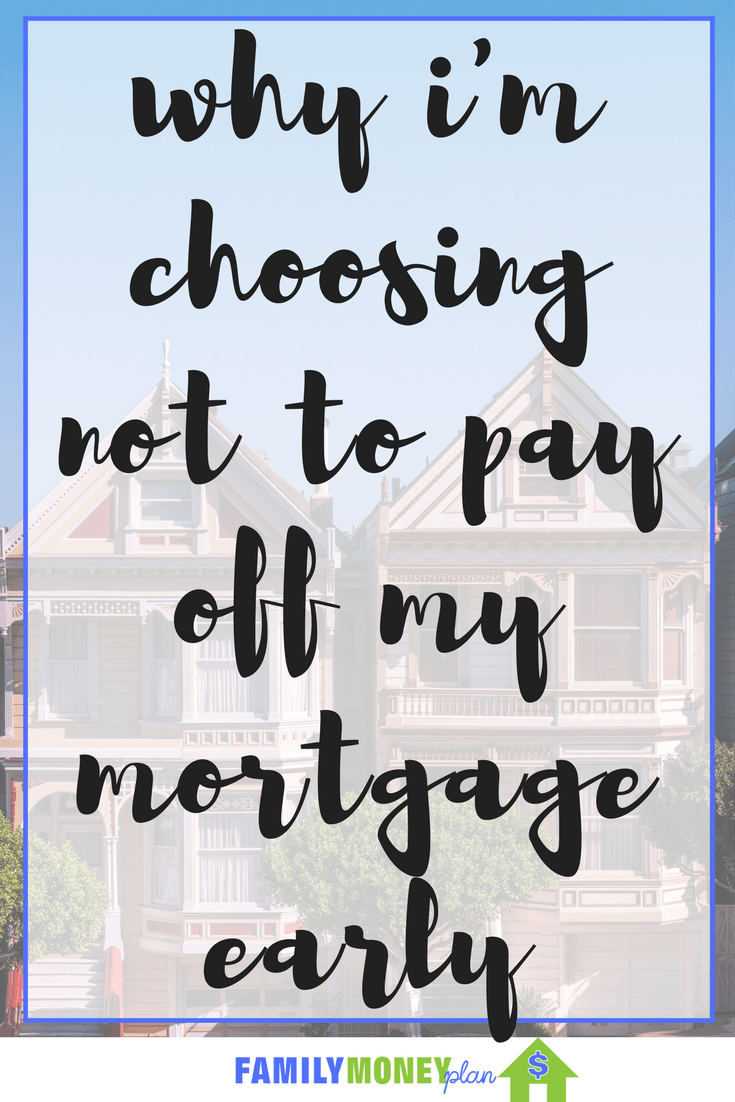 why i'm choosing not to pay off my mortgage early | Mortgage Debt | Why not to pay off mortgage
