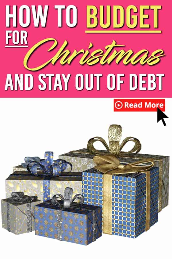 Worried that you won't have enough money for Christmas? Not sure how you should start your Christmas budget? Here are 3 sure fire ways to budget for Christmas and avoid going into debt this year. | Budgeting | Christmas Budget | Saving Money |