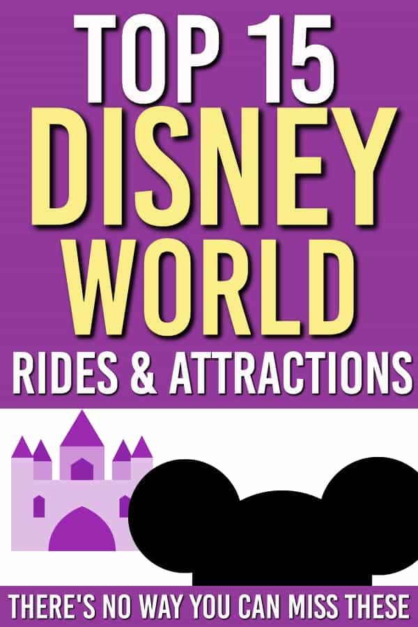 These are the best must see Disney World rides. We're talking top 10+ Disney World rides  for all of the parks. Make sure to get Fast Passes so you can save time. #FastPass #WDW #WaltDisneyWorld #Rides #top10 #disneyworldrides