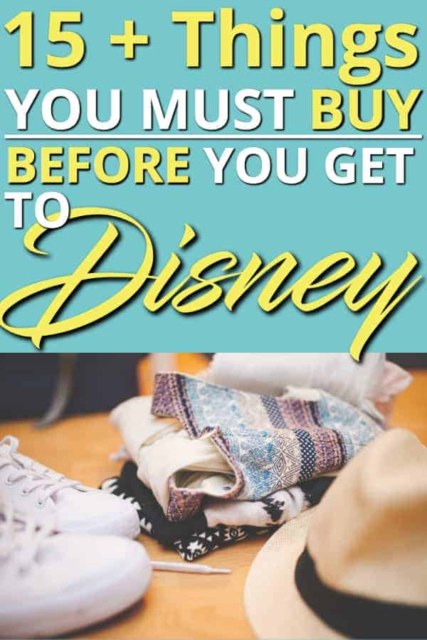Planning a Trip to Disney? Here Are 15+ Things to Buy Before Going to Disney World that will save you money! Buy them before you leave and save BIG! | Disney World | Family Travel | Save Money | #disneyworld #disney #wdw #travel #familytravel #savemoney