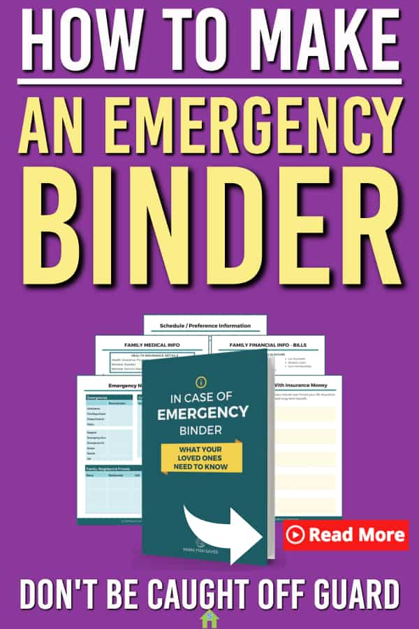 Are you ready in case of an emergency? Every family needs a family emergency binder. Here's how to create and emergency binder along with our family emergency binder tips. Make sure you have everything you need and ready just in case. #emergency #emergencybinder #personalfinance #money