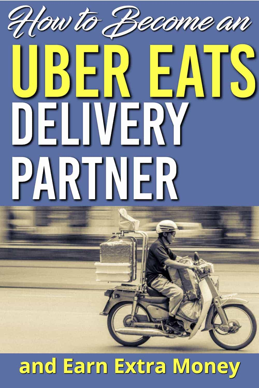 Need a way to earn extra money but want to do it in your spare time? Become an Uber Eats driver. It's easy to get started here's what you need to know | Uber Eats Delivery Program | Earn Extra Money |
