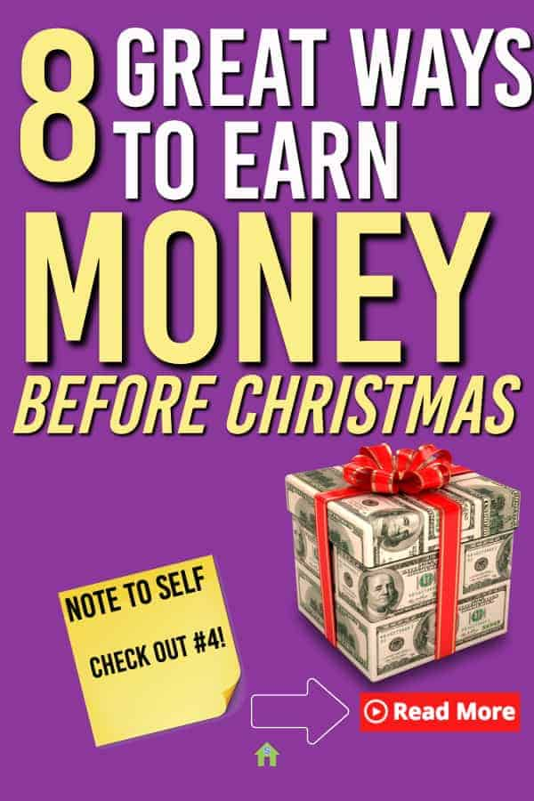 Lost for ways to earn money for Christmas? Need some great money making ideas? Here are some ways to earn extra money leading up to Christmas #christmas #earnmoney #makemoney #makemoneyonline #earnmoney #earncash