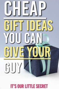 Need some cheap gift ideas that don't look cheap? These make great stocking stuffers. Here are some frugal gifts you can buy this Christmas and save yourself some money on him. #gifts #giftguides #giftsforhim #giftideas