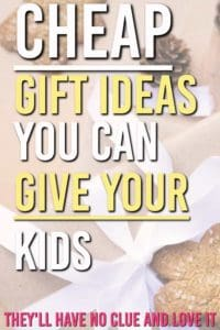 Need some cheap gift ideas for you kids that don't look cheap? These make great stocking stuffers. Here are some frugal gifts you can buy this Christmas and save yourself some money on your kids. #gifts #giftguides #giftsforkids #giftideas