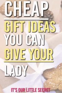 Need some cheap gift ideas for her that don't look cheap? These make great stocking stuffers. Here are some frugal gifts you can buy this Christmas and save yourself some money on her. #gifts #giftguides #giftsforher #giftideas