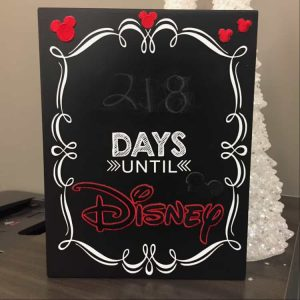disney world countdown ideas