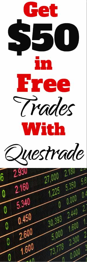 Questrade Review for Canadians and Discount Offer Code for $50 in Free Trades | Start Investing | Self directed investing | #investing #bonuscode #bonus offer