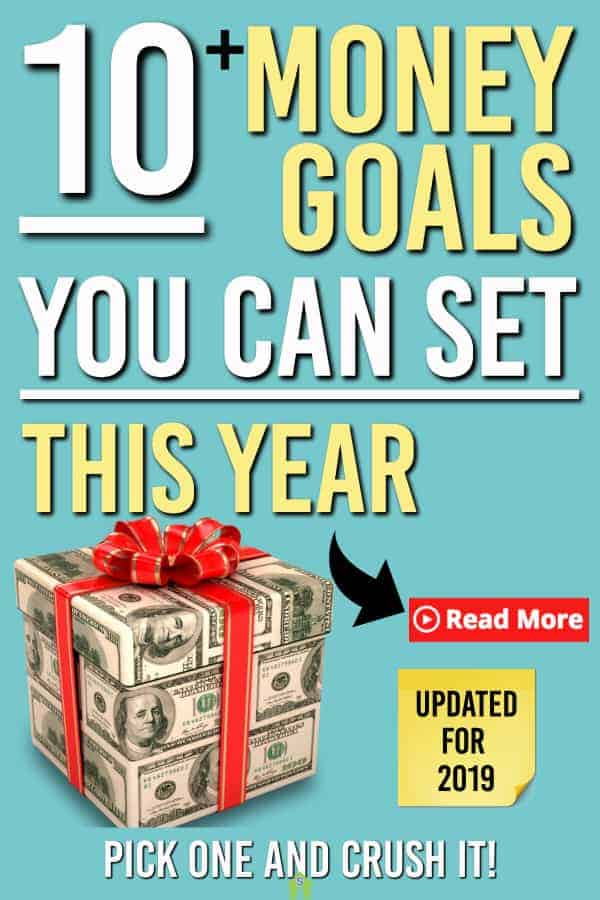 Wondering which money goals to set? Check out our ultimate list of financial goals you can set for yourself. Simply pick one an get started. #personalfinance #money #goals #smartgoals