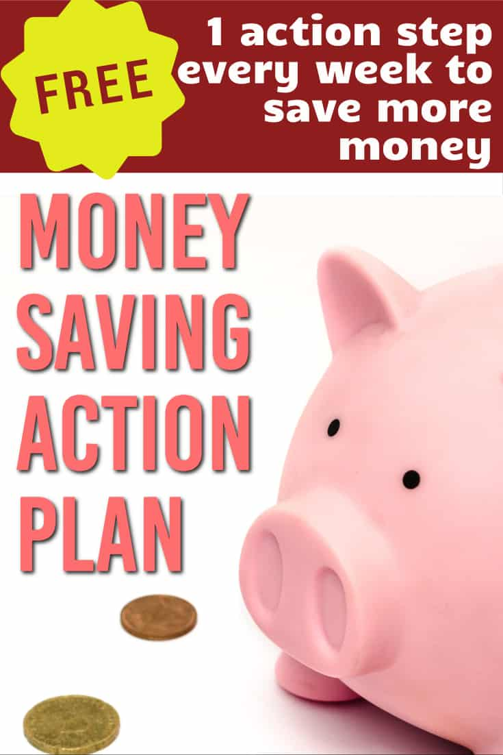 Fix your finances 1 step at a time.  Get 1 email a week that gives you an actionable step to improve your money, quick and easily. #moneytips  #money #savingsplan  #savings  |Money Saving Plan | Money action plan