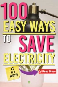 100 ways to save on electricity