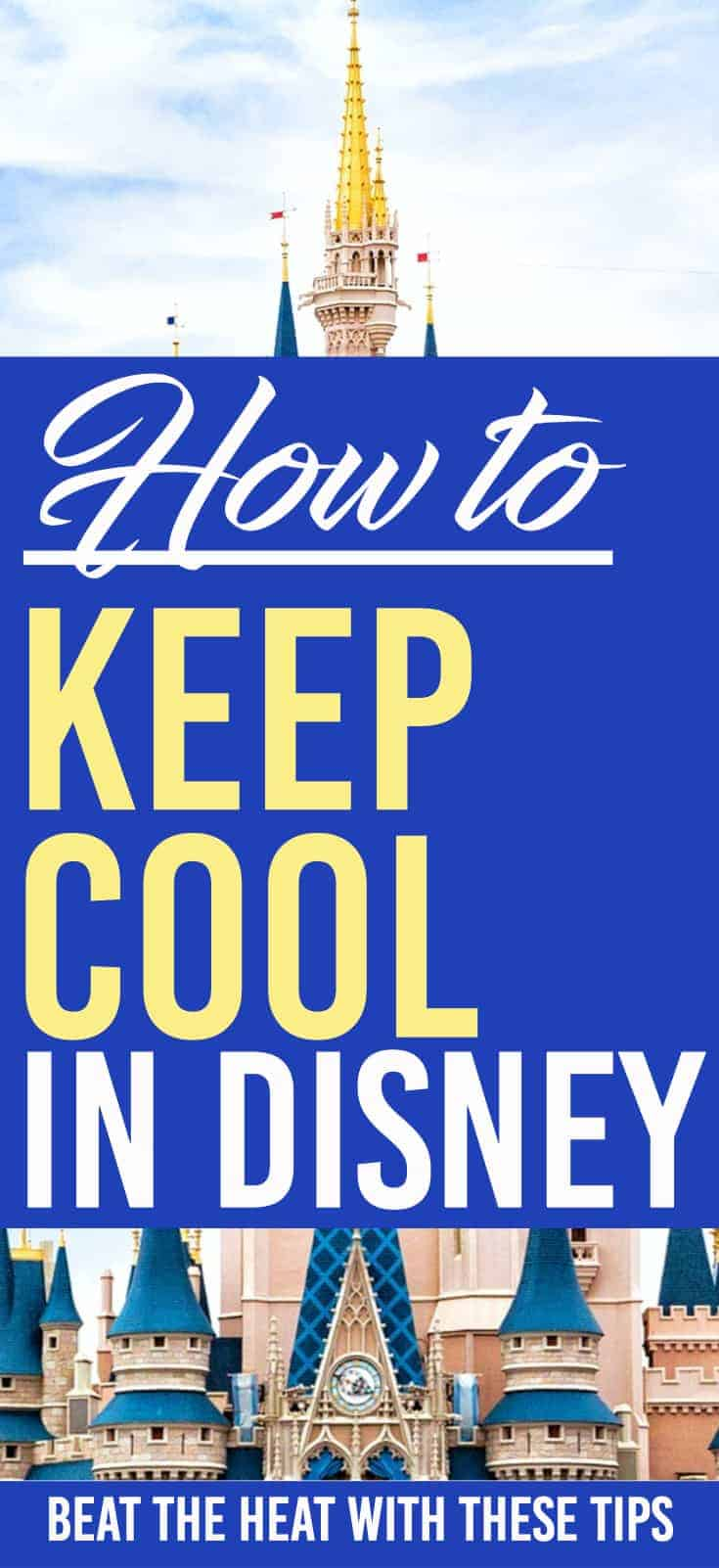 How to keep cool in Disney World. Here are some great ways to beat the heat in Walt Disney World. Going to Disney World in the summer can get hot. Luckily there are a ton of ways for you to keep cool and beat the heat.
