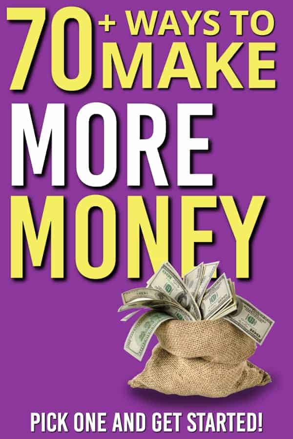 There are many ways to make more money. From side hustles you do when you have time. To hobbies that pay you for what you do well. Here are 70+ different ways to make more money. Make more money has never been easier. | Side hustle |Making More Money | Extra Money | Extra Income | Side gigs | #moremoney #money #personalfinance #extraincome #sidehustle