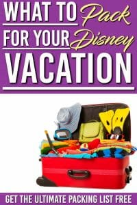 Here is the complete packing list for Disney World complete with tips and ideas. This list is essential to your Disney World planning, get this free printable and get packing for your exciting Disney World trip! #disneyworld #disney #familytrip #printable #free